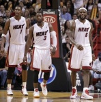 Chris Bosh, Dwayne Wade, and LeBron James