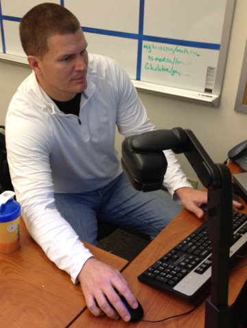 Jon Kitna prepares for an algebra class at Lincoln High School. (Yahoo! Sports)
